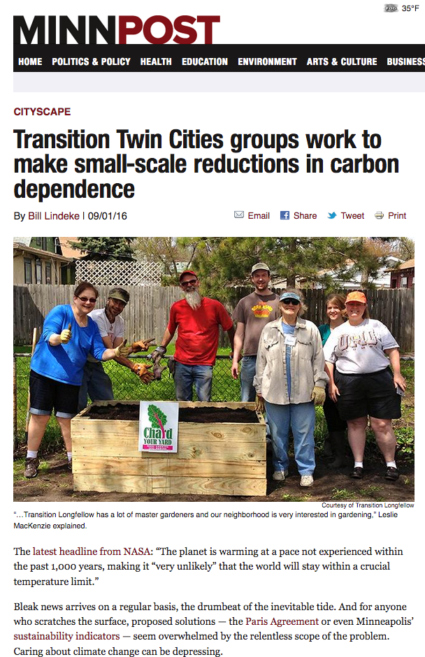 Transition Group MinnPost Article