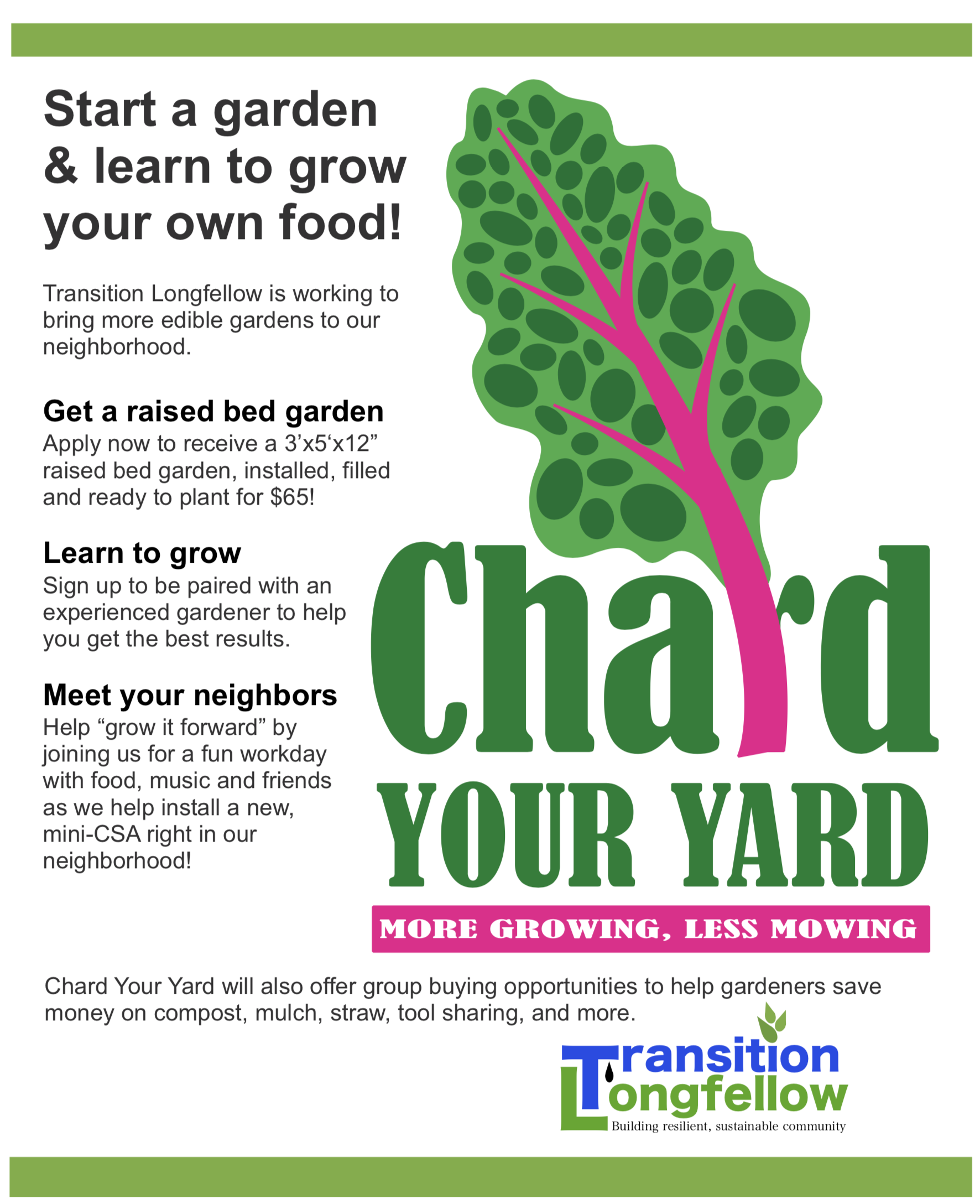 Chard Your Yard Garden Installation