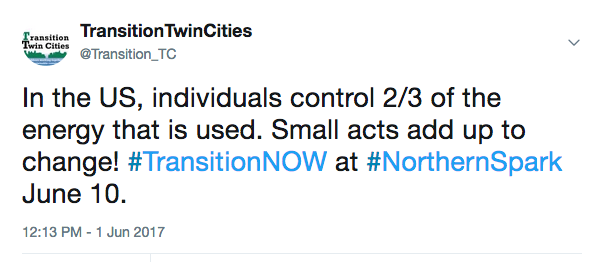 Transition Twin Cities Lower Carbon Footprint