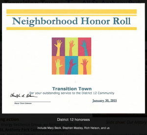 Transition ASAP Honor Roll